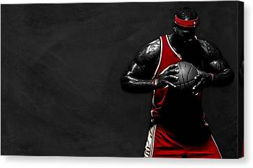 Lebron James Canvas Print by Movie Poster Prints