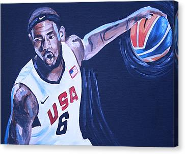 Lebron Canvas Print - Lebron James Portrait by Mikayla Ziegler
