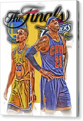 Lebron James Stephen Curry The Finals Canvas Print