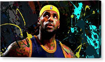 Lebron Canvas Print - Lebron by Richard Day