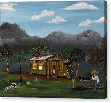 Lecheon A La Bara Canvas Print by Gloria E Barreto-Rodriguez
