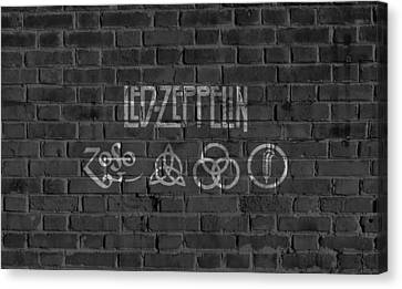 Drummer Canvas Print - Led Zeppelin Brick Wall by Dan Sproul