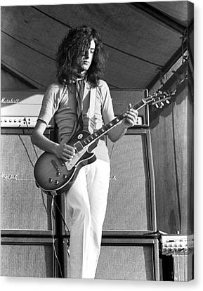 Led Zeppelin Jimmy Page '69 Canvas Print by Chris Walter
