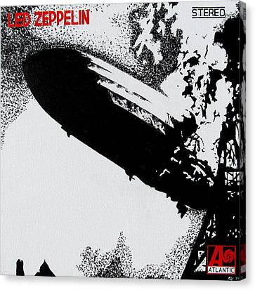 Led Zeppelin Canvas Print by Mr Minor