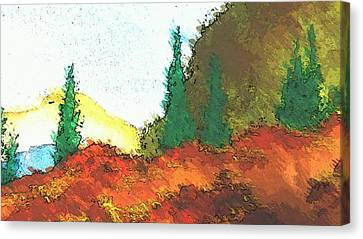 Ledge In The Forest Canvas Print