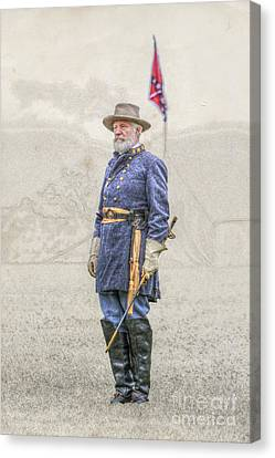 Lee At Appomattox Canvas Print by Randy Steele