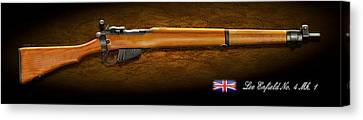 Lee Enfield British Firearm Study Canvas Print by John Wills