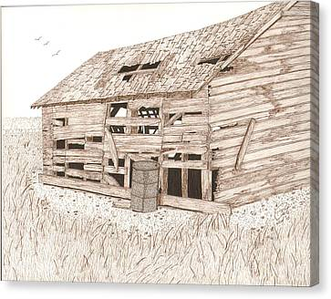 Lee's Barn Canvas Print by Pat Price