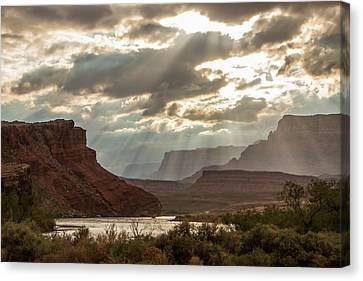 Cliff Lee Canvas Print - Lee's Ferry At Sunset by Teresa Wilson