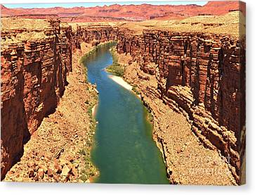Cliff Lee Canvas Print - Lees Ferry River Canyon by Adam Jewell