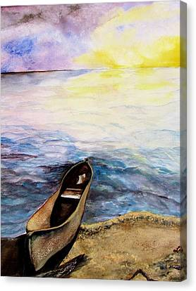 Canvas Print featuring the painting Left Alone by Lil Taylor