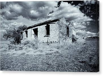 Left In Ruin Canvas Print by Mike  Dawson
