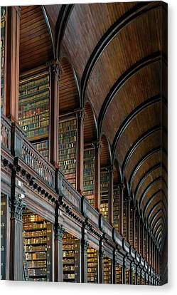 Left Wing Of The Long Room Canvas Print by Chris Buff
