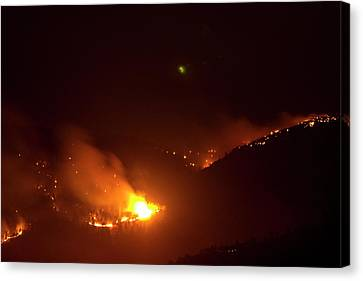 Lefthand Canyon Wildfire Flare Up Boulder County Colorado Canvas Print by James BO  Insogna