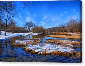 Leftover Snow Canvas Print by Rick Friedle