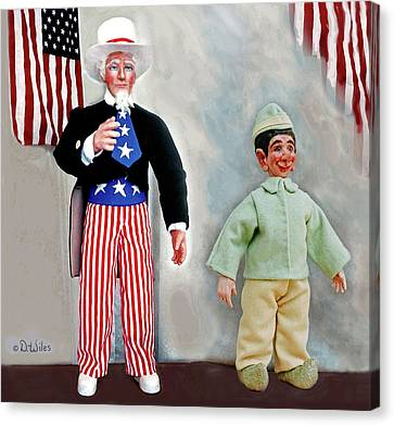 Lefty And Sam Canvas Print by David Wiles
