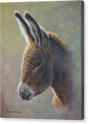 Canvas Print featuring the painting Lefty by Kim Lockman