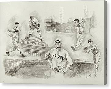 Boston Red Sox Canvas Print - Legend Of Boston Red Sox by Mei  He