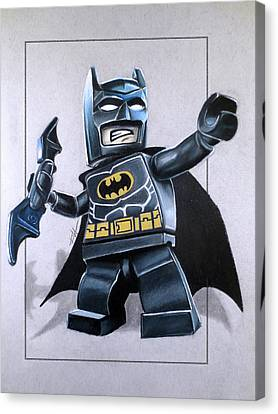 Dc Universe Canvas Print - Lego Batman by Thomas Volpe