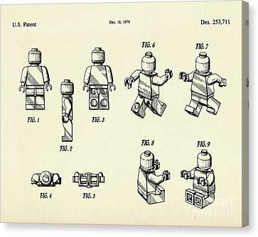 Lego Figure-1979 Canvas Print by Pablo Romero