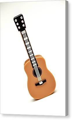 Minifig Canvas Print - Lego Guitar by Samuel Whitton