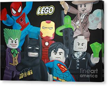 Lego Hero's Canvas Print by Laura Mancini