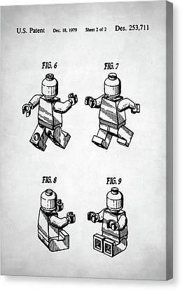 Lego Man Patent Canvas Print