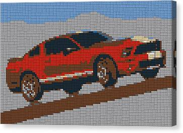 Lego Mustang Canvas Print by Dan Sproul