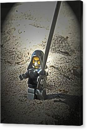 Lego Ninja Canvas Print by Cyryn Fyrcyd