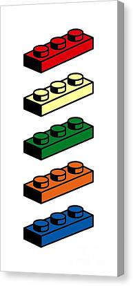 Lego T-shirt Pop Art Canvas Print by Edward Fielding