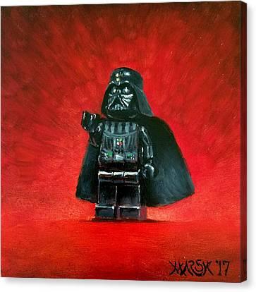 Lego Vader Canvas Print