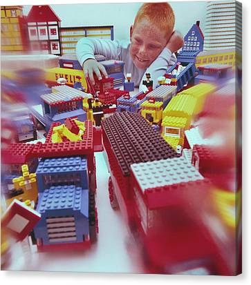 Lego-van Driver Canvas Print by Manfred Lutzius