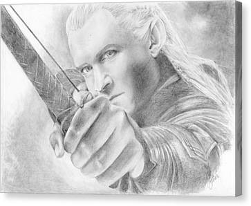 Legolas Greenleaf Canvas Print by Bitten Kari