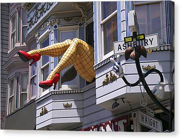 Legs In Window Sf Canvas Print by Garry Gay