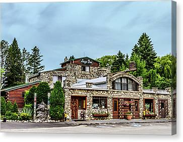 Canvas Print featuring the photograph Legs Inn Of Cross Village by Bill Gallagher