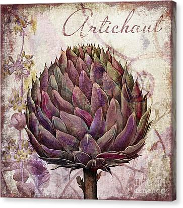 Legumes Francais Artichoke Canvas Print by Mindy Sommers