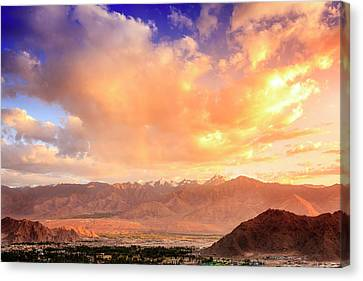 Canvas Print featuring the photograph Leh, Ladakh by Alexey Stiop
