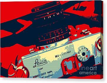 Leica Warhol Canvas Print by John Rizzuto
