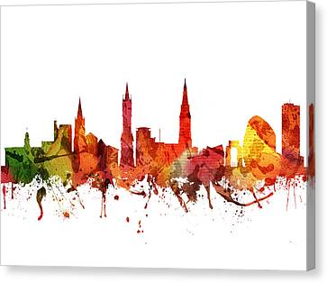 Leicester Cityscape 04 Canvas Print by Aged Pixel