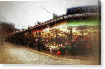 Canvas Print featuring the photograph Leicester Market by Isabella F Abbie Shores FRSA
