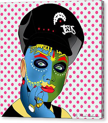 Leigh Bowery 2 Canvas Print by Mark Ashkenazi