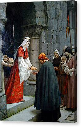Leighton Edward Blair Charity Of St Elizabeth Of Hungary Canvas Print