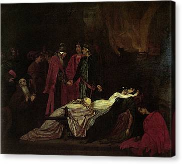 Leighton The Reconciliation Of The Montagues And The Capulets Canvas Print