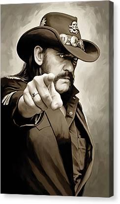 Lemmy Kilmister Motorhead Artwork 1 Canvas Print