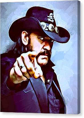 Sam Spade Canvas Print - Lemmy Kilmister Painting by Scott Wallace