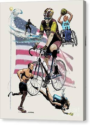 Jogging Canvas Print - Lemon Aid by Joseph Juvenal