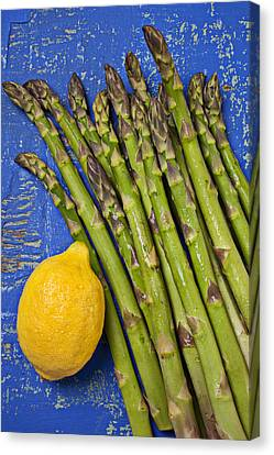 Lemon And Asparagus  Canvas Print by Garry Gay