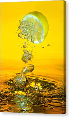 Lemons Canvas Print - Lemon And Bubbles by Travel Images Worldwide