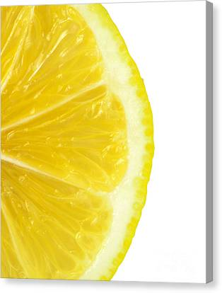 Lemon Close Up Canvas Print by Deyan Georgiev