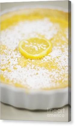Lemon Curd Tart Canvas Print by Jorgo Photography - Wall Art Gallery